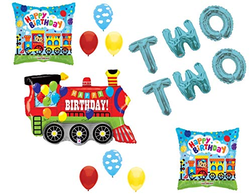 Chugga Chugga Two Two Train 2nd Birthday Party Balloons Decoration Supplies Second -