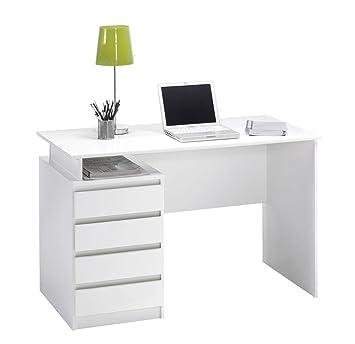 jysk Schreibtisch mesinge 4 Schubladen weiß: Amazon.de: Küche & Haushalt