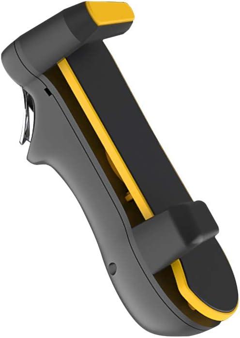 Negaor モバイルタブレットコントローラーゲームゲームパッド周波数変換タブレットトリガーシックスフィンガーゲームジョイスティックブラック+イエロー