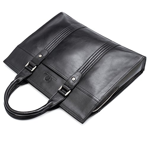 Leather Briefcase by Jason Gerald Leather Laptop Bag - Premium Messenger Bag for Men and Women by Jason Gerald (Image #3)