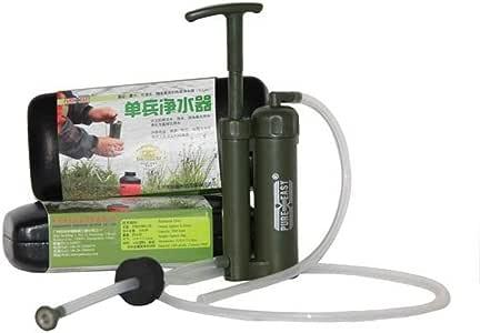 Pure Easy - Purificador de agua, filtro de agua, de plástico, cartucho de cerámica, portátil (0,1 micras, para exteriores, supervivencia, senderismo, acampada): Amazon.es: Deportes y aire libre