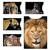 12 RFID Blocking Sleeves - Contactless Card Protection. Designer Set Credit & ID Card Protector Sleeves for Wallet, Passport Protectors - Full Protection by Blocking RFID & NFC -'Cats of The World'