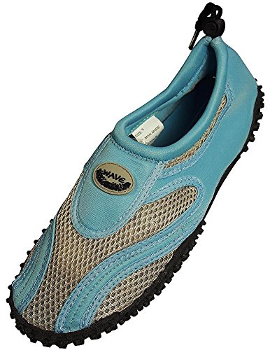 The Wave - Ladies Aqua Shoe, Light Blue, Grey 37097-9B(M) US from The Wave
