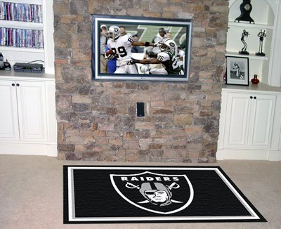 NFL - Oakland Raiders 5 x 8 Rug by Fanmats