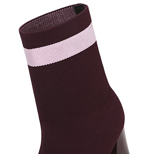AIYOUMEI Women's Classic Boot Wine Red JOWjaX