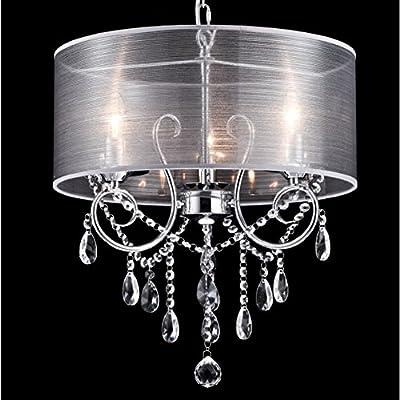 Dazhuan Modern 3 Lights Crystal Drum Chandelier Flushmount Pendant Ceiling Lighting Fixtures