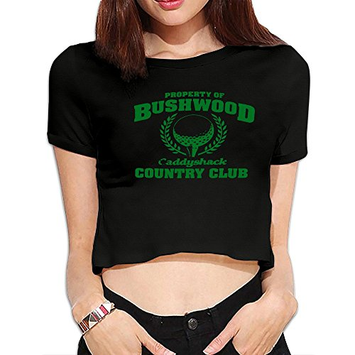 Bushwood Country Club Golf Womens Crop Tops T Shirts - Caddyshack Outfit