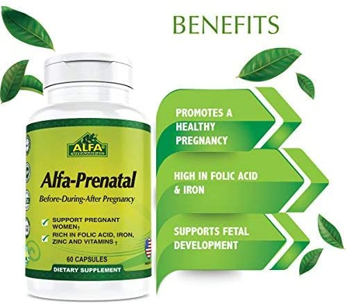 Amazon.com: ALFA Prenatal 60 tabletas – embarazo Vitaminas y ...