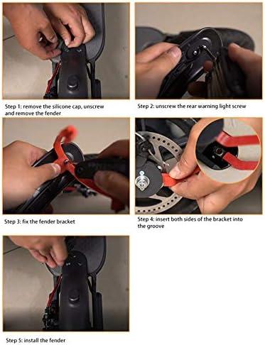 Konesky Soporte de Guardabarros Trasero Scooter Electrico Modificaci/ón Accesorio de Repuesto con 3 Piezas de Cubierta de Gancho de Guardabarros Trasero para Xiaomi M365 Pro
