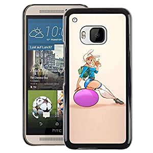 A-type Arte & diseño plástico duro Fundas Cover Cubre Hard Case Cover para HTC One M9 (Sexy Fitness Chick Woman Girl Butt)