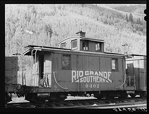 Caboose Rio Grande - 1940 Photo Caboose of the Rio Grande Southern narrow gauge railway. Telluride, Colorado Location: Colorado, San Miguel County, Telluride
