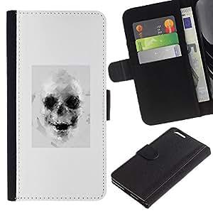 For Apple (5.5 inches!!!) iPhone 6+ Plus / 6S+ Plus Case , Drawing Tattoo Black White Art - la tarjeta de Crédito Slots PU Funda de cuero Monedero caso cubierta de piel