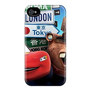 Durable Protection Case Cover For Iphone 4/4s(cars London Tokyo)