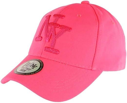 Hip Hop Honour - Gorra NY, Color Rosa Fluorescente Rosa Talla ...