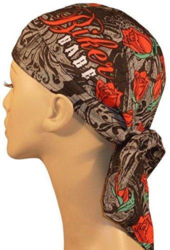 Ascent Beanie - Danbanna Deluxe skull cap biker caps headwraps doo rags Rose Ascent