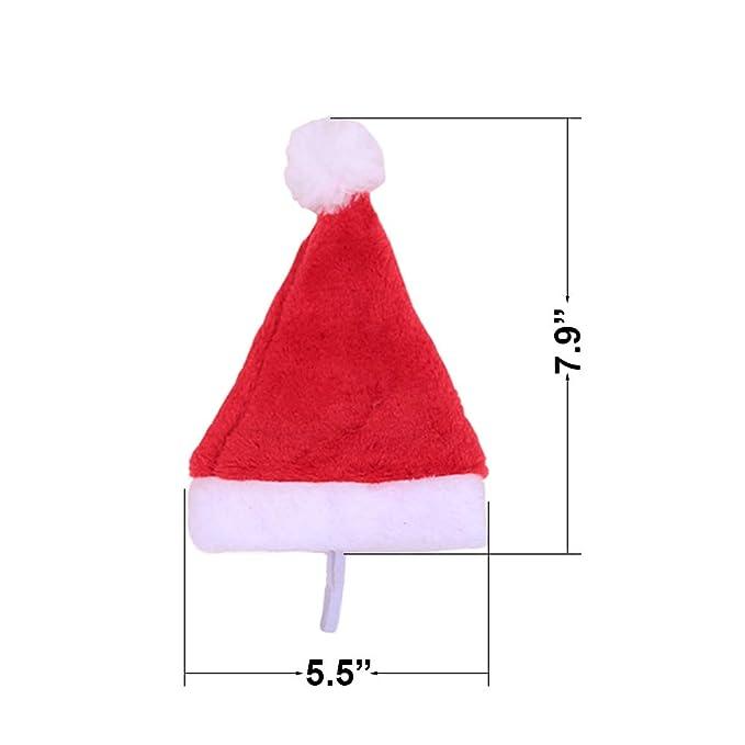 Amazon.com: Gorro de felpa de Papá Noel con diseño de felpa ...