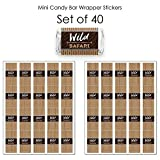 Wild Safari - Mini Candy Bar Wrapper Stickers