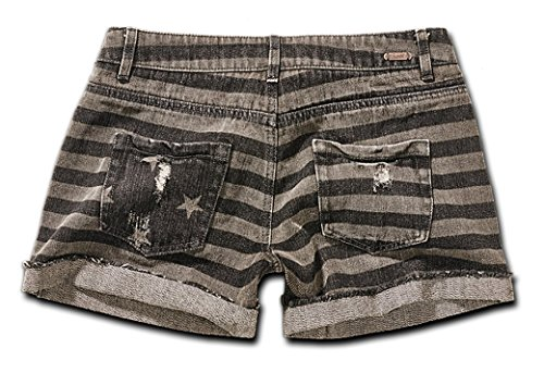 Denim Hotpants Stars & Stripes - Farbe: Grau - Größe: 27