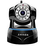 ZAVACA 1080P(1920x1080) Wireless WiFi IP Camera,Home Security Wireless Network Cam with Pan/Tilt/Zoom ,Two-Way Audio (Black)