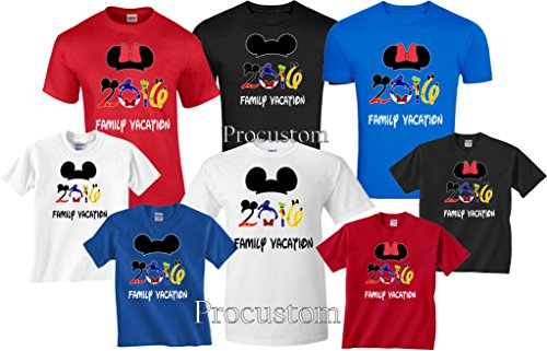 [Disney Family Vacation 2016 T-Shirts Matching Cute Mickey T-Shirts (X-Large Adult Mickey, Blue)] (Family Disney Shirts)