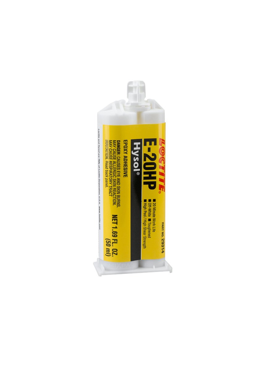 Loctite 237107 Off White E-20HP Hysol Epoxy Structural Adhesive, Fast Setting, 50 mL, 1.7 fl. oz, Dual Sided Cartridge