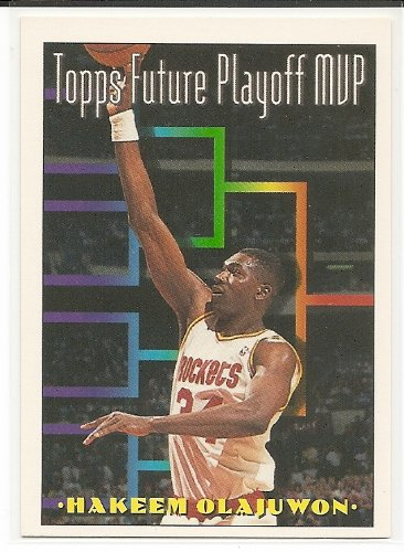 Hakeem Olajuwon Card Rockets - Hakeem Olajuwon 1993-94 Topps Houston Rockets Card #205