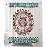 World Explorer Medallion Fabric Shower Curtain 72 Inch By 72 Inch Easy  Care. By Better Homes U0026 Gardens