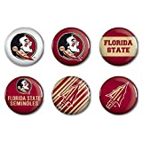 NCAA Florida State University WCR90381014 Round Button (6 Pack), 2''