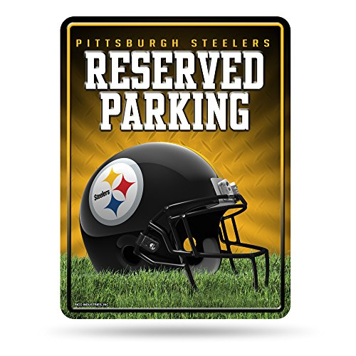 NFL Pittsburgh Steelers 8-Inch by 11-Inch Metal Parking Sign Décor