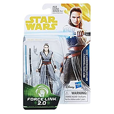 Star Wars Rey (Jedi Training) Force Link 2.0 Action Figure: Toys & Games