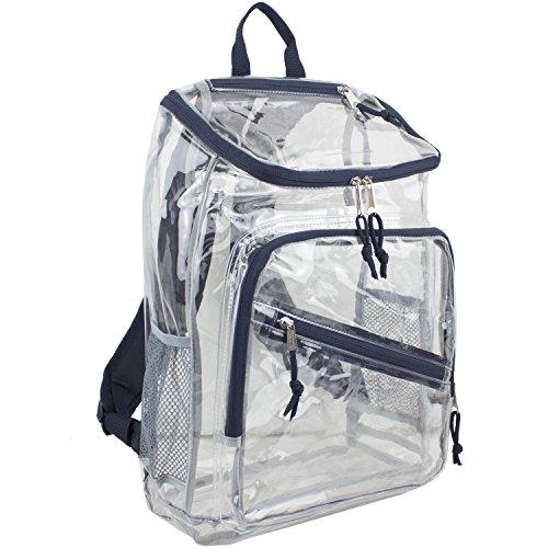 Eastsport Clear Top Loader Backpack, Navy Blue