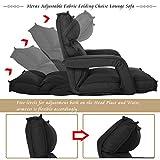 Merax Fabric Folding Sofa Chair Floor Chaise Lounge