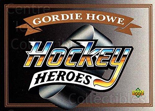 (CI) Gordie Howe, Header Hockey Card 1992-93 Upper Deck Gordie Howe Heroes 0 Gordie Howe, ()