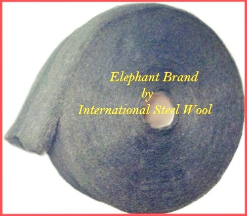 #0 Medium-Fine Steel Wool, 5 lb Roll by Elephant Brand