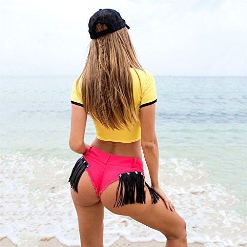 Reveal Pantalone Donna Di Glutei Cotone Jeans Pink Nappa Pantaloncini Stelle wgXZfOqw