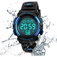 Reloj de pulsera para niños, multifunción, 164.0ft, impermeable, deportivo, LED, alarma, cronómetro, digital, para niños, niñas