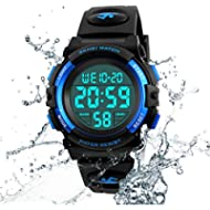 Kids Watch Multi Function 50M Waterproof Sport LED Alarm Stopwatch Digital Child Wristwatch for...