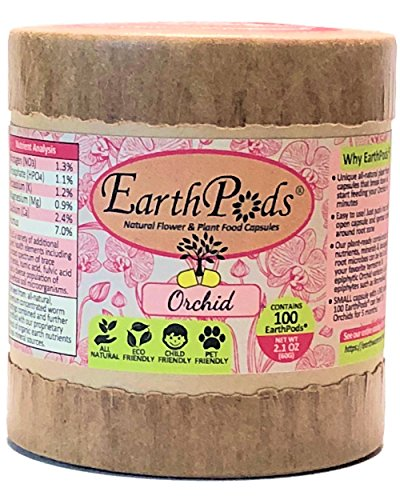 EarthPods ORCHID + EPIPHYTE Bio Organic Fertilizer Capsules (100 Spikes, NO UREA, Indoor + Outdoor Ecofriendly Plant Food for Orchids/Bromeliads/Tillandsia Air House Plant & Flower - Care Orchid Oncidium
