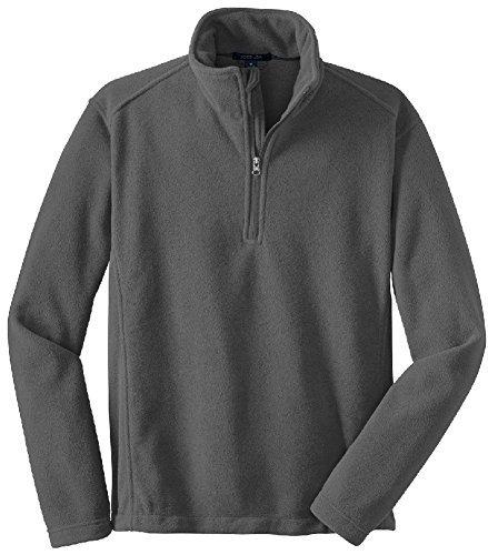 Joe's USA - Mens Soft and Cozy Fleece 1/4-Zip Pullovers Sizes: Adult XS-6XL Iron Grey