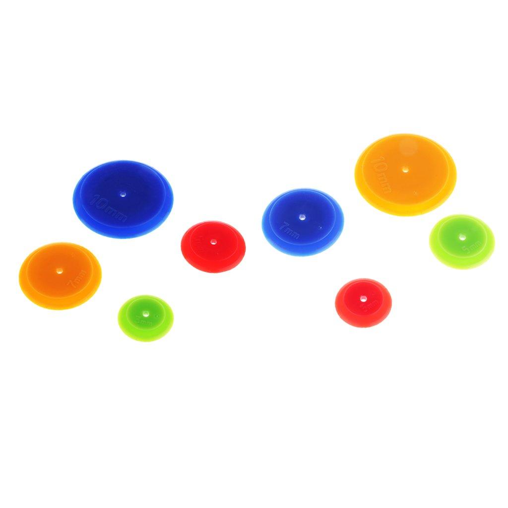 Sharplace Marcatore A Telaio Per Tracciamento Dell'indicatore Di Tolleranza Di 8 Pezzi Per Lavori Di Quilting 3/5/7 / 10mm
