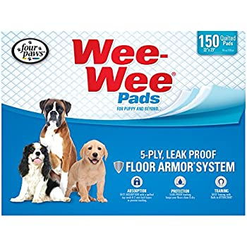 "Four Paws Wee-Wee Pet Training and Puppy Pads,  150 Count,  22"" x 23"" Pad"