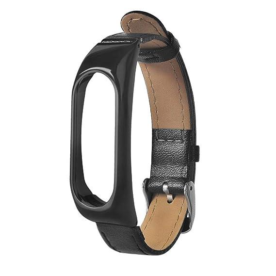 Pulsera para Xiaomi 2, ☀️Modaworld Negocio de Cuero Ligero Correa de Reloj Inteligente para Xiaomi Miband 2 Correa de Reloj Elegante Pulsera de Repuesto ...