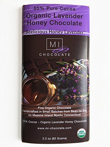 MI Chocolate Organic 55% Dark Beelicious Lavender Honey Chocolate Bar ()