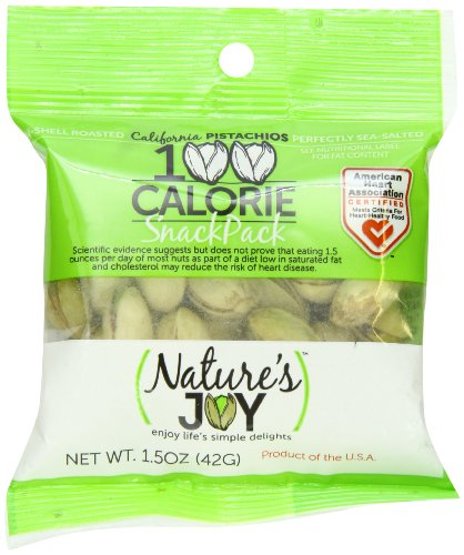 Nature's Joy California Pistachios, Roasted and Sea-Salted, 1.5 Oz, 12 Count