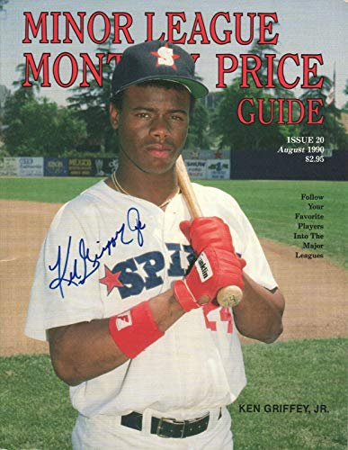 Ken Griffey Jr. REAL SIGNED August 1990 Minor League Monthly Price Guide COA from Loa_Autographs