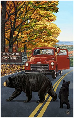 Connecticut Truck With Sign Travel Art Print Poster by Paul A. Lanquist (30
