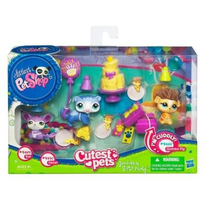 Littlest Pet Shop Cutest Pets Goodies & Gifts Party with Rat 2489, Ferret 2490 and Guinea Pig -