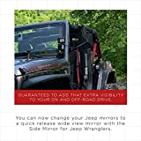Side Mirror Best for 1997-2018 Jeep Wrangler