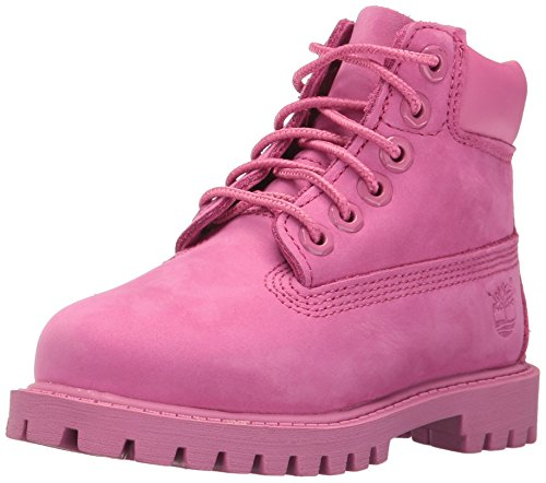 Timberland Kids Baby Girl's 6'' Classic Boot (Toddler/Little Kid) Iris Rose Nubuck Boot by Timberland