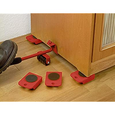 UBEI Furniture Lifter Portable Heavy Lifting Device Furniture Moving Device Mover Transport Set for Home Red: Home Improvement
